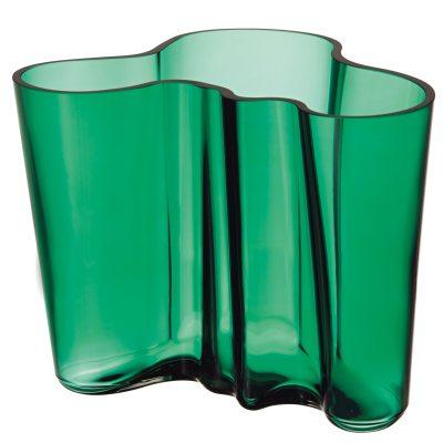 Aalto vaasi 16 cm smaragdi vihreä