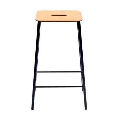adam-stool-65-jakkara-nahkamatta-musta
