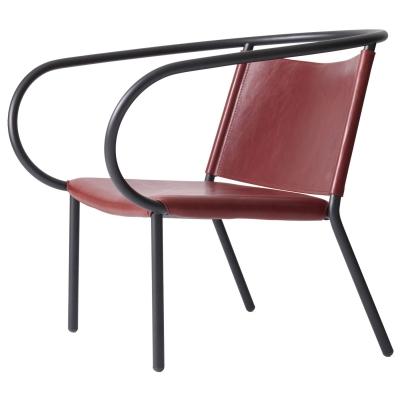 afteroom-loungetuoli-punainen-nahka