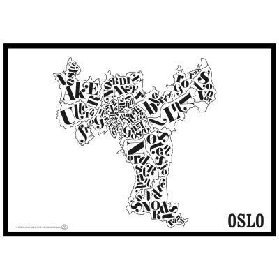oslo-kartta-juliste