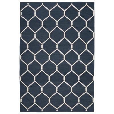 dhurry-jaal-matto-sekoitus-sininenvalkoinen
