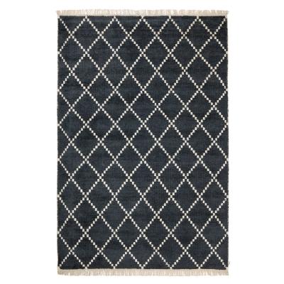kochin-bambusilkki-matto-123x320-mustaluonnonvalkea