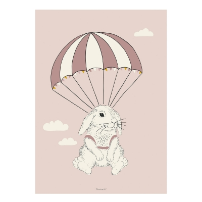 airbone-bunny-poster-50x70-roosa