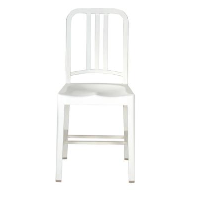 111 Navy Chair snow white