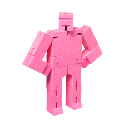 Microcubebot puuhahmo roosa