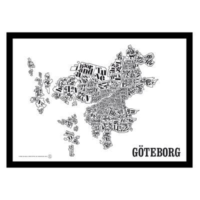 Göteborgin kartta juliste