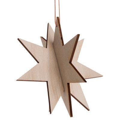 Wooden Star ornamentti L, koivua ryhmässä Sisustustavarat / Koristeet / Joulukoristeet  @ ROOM21.fi (129168)