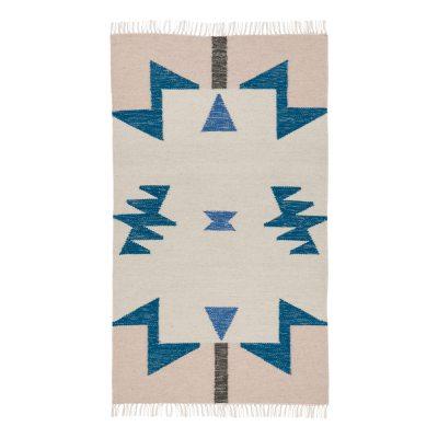 kelim-matto-blue-triangles