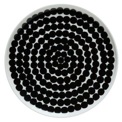 oiva-lautanen-20cm-valkoinenmusta