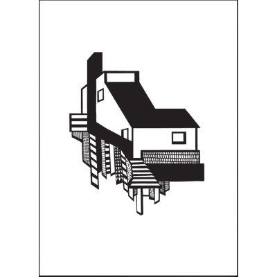 a-house-juliste-a3-mustavalkoinen