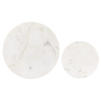 coaster-pannunalunen-2kpl-valkoinen-marmori