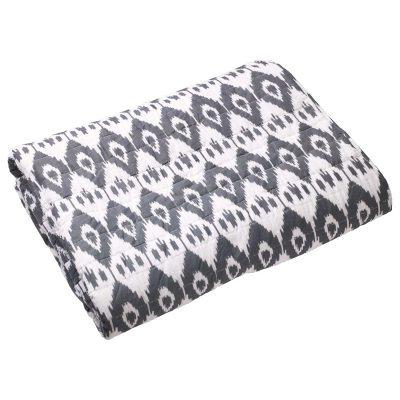 Ikat Jodhpur sängynpäällinen 160×260 harmaa
