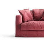 Le Grand Air Loveseat verhoilu, Rosewood Linen