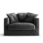 Le Grand Air Loveseat, Carbon Dust